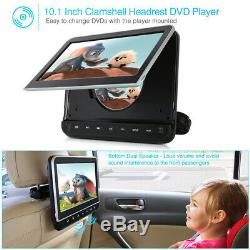 10.1 Car Headrest DVD Portable Player with Free Headphone Wall Charger HDMI AV