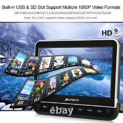 10.1 Dual Screen Car Headrest Portable DVD Player AV-IN USB HDMI with Headsets