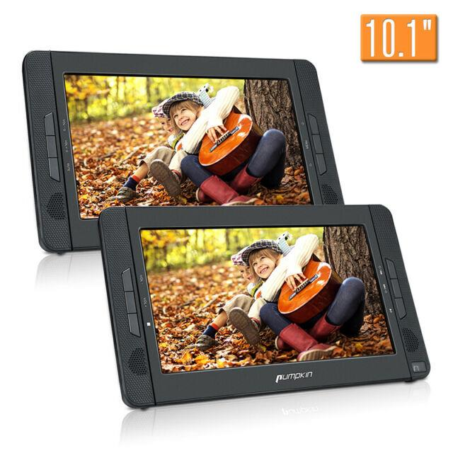 10.1 Dual Screen Portable Car Headrest Dvd Player Tft Monitor Built-in Battery