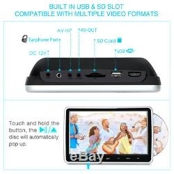 10.1 Inch HD Car Headrest DVD Player Auto Suction Drive With Touch Button USB SD