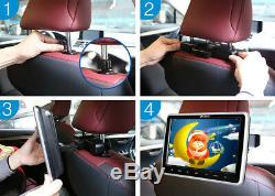 10.1 LCD Screen Slot-in Car Headrest DVD Player TV Monitor 1080P HDMI Headsets