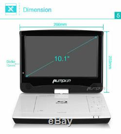 10.1 Portable Blu Ray DVD Player Battery HDMI USB Full HD Dolby Audio AV-IN/OUT