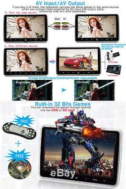 10.1 Portable HD TFT LCD Headrest DVD Player Car SUV Multimedia Monitor with HDMI
