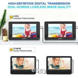 10.5 Dual Screen Portable DVD Player Car Headrest HDMI Battery Car and Home Use