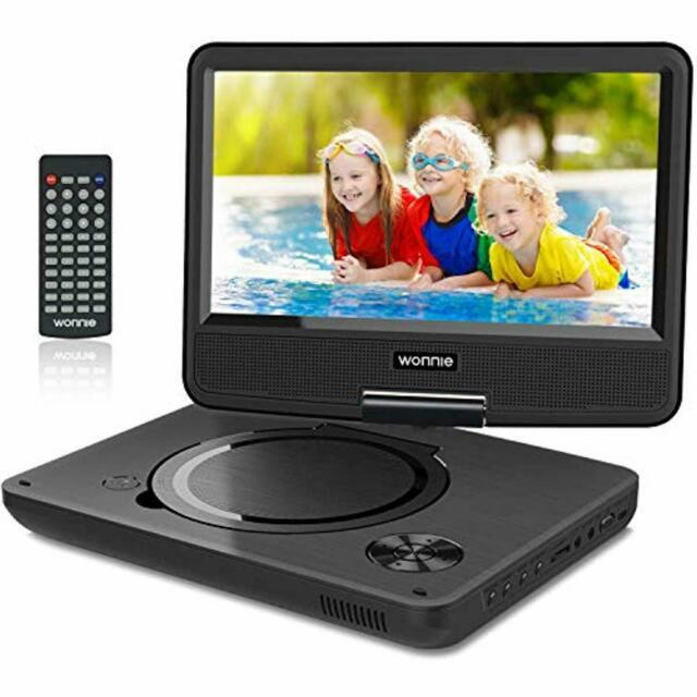 10.7 Kids Portable Dvd Player With 9 Inch Swivel Screen Rechargeable Battery
