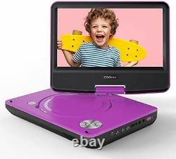 11.5'' Portable DVD Player With HD Swivel Screen SD/USB/AV-Out Port Region Free