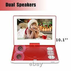 12.5 Portable DVD Player with 10.1 HD Swivel Screen, 6 Hours 12.5 inch