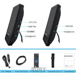 12 Dual Screen Portable DVD Player Car Headrest Monitor TV Rechargeable Battery