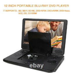 12 Portable Blu-Ray DVD Player 1080P HDMI Rechargeable Battery MP4 USB Memory