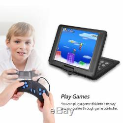 13 270° Rotation Portable DVD CD TV Player Rechargeable SD MS USB LCD Screen
