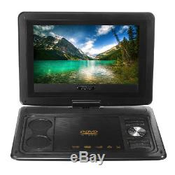 13.8'' Portable Car Rechargeable DVD Player 270° Screen+Li-ion Battery With Remote