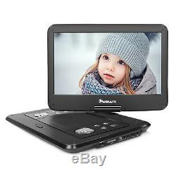 14 HD 1366768 Portable DVD Player Car TFT Screen Rechargeable Analog TV USB SD