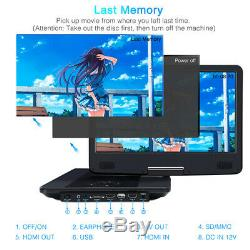 14 INCH Portable Blu Ray DVD Player Portable DVD Player Dolby Audio HDMI Memory