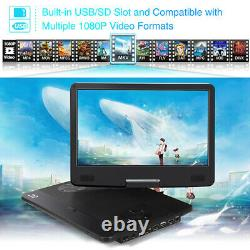 14 Portable Blu-Ray DVD Player 1080P HDMI Input/Output Dolby Audio AV-IN OUT SD