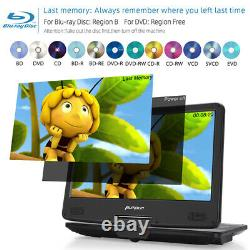 14 Portable Blu-ray DVD Player HDMI Region Free USB MP4 AV-IN OUT withHeadphone