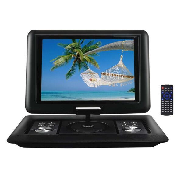 15.4 Lcd Swivel Screen Portable Dvd Player Usb Sd Av Inputs Remote Car Charger