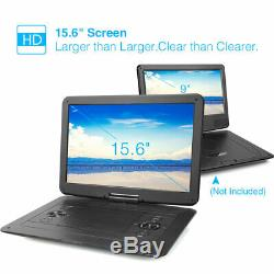 15.6 HD Portable DVD Player 1366768 Large Swivel Screen USB SD 7 Hours Battery
