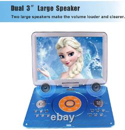 16.9 Portable Dvd Player With 14.1 Large Swivel Screen, Car Dvd Player Portabl