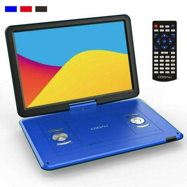 17portable Dvd Player Cd Card Hd With169 Lcd Swivel Widescreen Rechargeable Usb