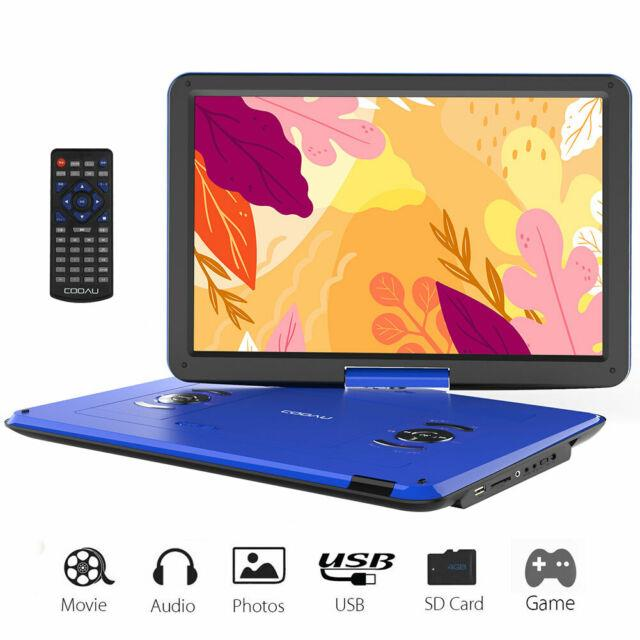 17portable Dvd Player Car Hd Cd Tv Player 169 Lcd Swivel Screen Rechargeable