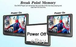 17.9 Portable DVD Player with 15.4 Large HD Screen, 6 Hours Rechargeable Bat