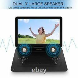 17.9 Portable DVD Player with 15.6 HD Swivel Screen, Personal DVD Player