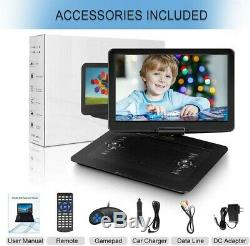 17.9 Portable DVD Player with 15.6 HD Swivel Screen, Personal DVD Player with