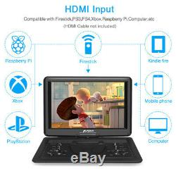 19 Large Portable DVD Player with16 Swivel Screen Region Free Memory Battery USB