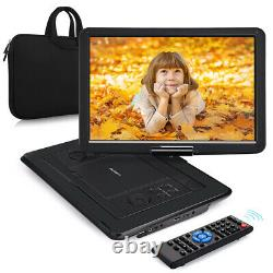 19 Portable DVD Player HD 169 LCD Large Swivel Screen Rechargeable USB SD HDMI