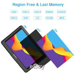19 Portable DVD Player with 16 Large Screen 7 Hours Battery HDMI 1080P USB SD