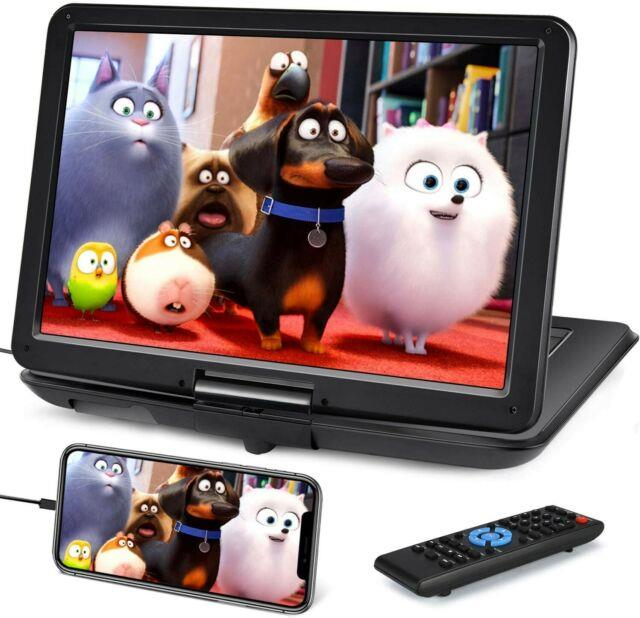19 Portable Dvd Player With 16 Large Screen, Hdmi Input, 6 Hours Rechargeable B