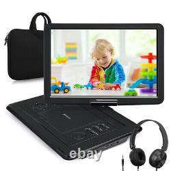 19 Portable DVD Player with 16 Screen HDMI 1080P Built-in Battery SD+Headphone