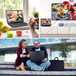 19 Portable DVD Player with 6 Hours Battery 16 Large Screen USB SD MP4+Handbag
