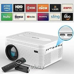 2021 Upgrade Full HD Bluetooth Projector with Built-in DVD Player, Portable