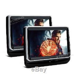 2X 10 HD Active Car Headrest Monitor Portable Front Flip DVD Player +Headsets
