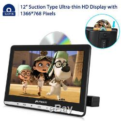 2x 12 Inch Dual Screen Portable DVD Player for Car Remote Control USB Headphones