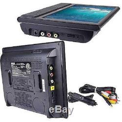 9 Dual Monitor TV Screen Mobile Portable Car SUV Travel Movies Video DVD Player