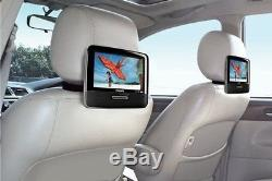 9 Portable DVD Player Playback Audio Video Dual Screens TFT For Car Travel 1d