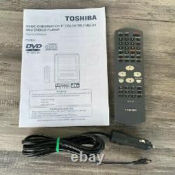 9 Toshiba Portable CRT TV with DVD Player Retro Gaming Color Television AC/DC