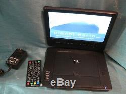 Azend BDP-M1061 Maxmade Portable 10 Blu-Ray/DVD Player w Remote & Power LOOK
