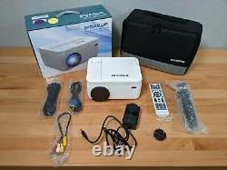 BIGASUO 2021 Upgrade Bluetooth Full HD Projector Built in DVD Player