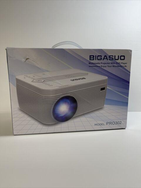 Bigasuo Pro302 Bluetooth Full Hd Projector Withbuilt In Dvd Player 4500 Lumens Usb