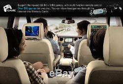 Beige HD Dual 9 Portable Car Active Headrest DVD Player Monitor + IR Headsets