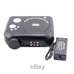 Black Home Cinema Theater Projector Portable DVD Player LCD TV Game CD Audio