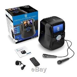 Bluetooth Karaoke Portable DVD Player Machine With Screen Microphones & Remote