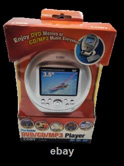 COBY Ultra-Portable DVD/CD/MP3 Player 3.5 Inch Screen TF-DVD500 NEW