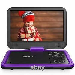 COOAU 12.5 Portable DVD Player with HD Swivel Screen, 5 Hours Built-in