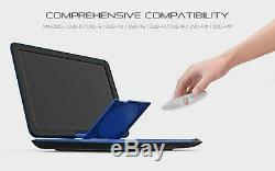 COOAU 17.9 Portable DVD Player 15.6 Large Swivel Screen Blue