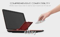 COOAU 17.9 Portable DVD Player with 15.6 Large Swivel Screen Red