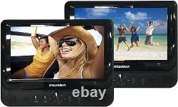 Car DVD Player For Kids Headrest Dual Screen Video Vehicle Seat Mount Portable